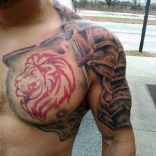 lion with body armor tattoos for men tats pinterest armor