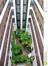 the tropical indoor garden as modern style royalty free stock