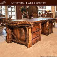 Excutive Desk Custom Made Wood Executive Desk Live Edge Fine Art Office