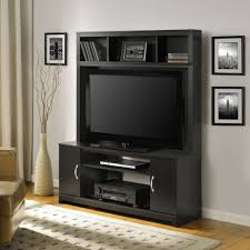 tv stands black led tv on unusual stands with stick game under