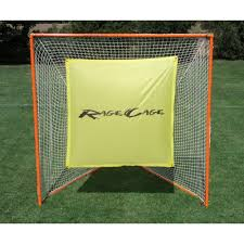 cage brave folding backyard lacrosse goal with shot blocker