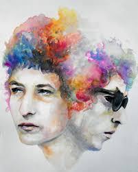 Bob Dylan Tattoo Ideas Bob Dylan Color Watercolor Portrait Art Guys U0026 Dolls