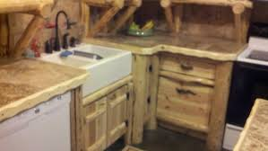 Bar Kitchen Cabinets by Handmade Rustic Log Kitchen Cabinets And Bar By Drew U0027s Up North
