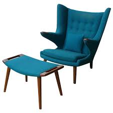 retro chair and ottoman hans wegner papa bear chair and ottoman hans wegner ottomans and