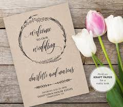 Ceremony Order For Wedding Programs Wedding Program Template Instant Download Editable Text