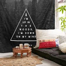 Bedroom Tapestry Indian Wall Bedroom by Forest Polyester Black Wall Hanging Tapestry Indian Mandala