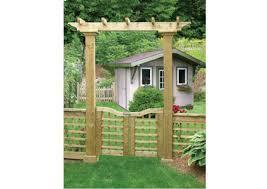home hardware arbor gate with lattice fence