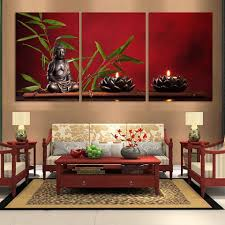 3 pieces large buddha canvas print painting home decor wall art