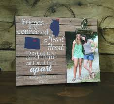 personalized frame friends are connected heart to heart