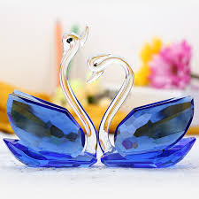 wedding gift decoration usd 50 27 home jewelry crafts swan decoration