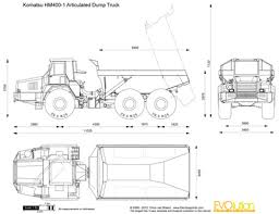 the blueprints com vector drawing komatsu hm400 1 articulated