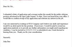 Examples Of Follow Up Letters After Sending Resume by Resume Follow Up Email Sample Reentrycorps