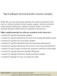 top 8 software technical writer resume samples 1 638 jpg cb u003d1433559154