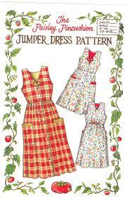 jumper dress pattern paisley pincushion