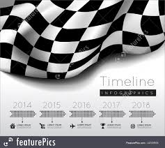 Checkered Racing Flags Illustration Of Timeline Graphics