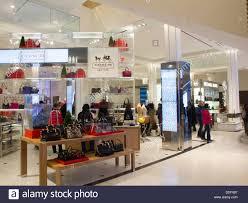 macy s department store coach handbag display area floor