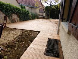 terrasse en bois suspendue construction bois charpente galland
