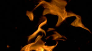 fire flames and sparks on black slow mo seamless loop stock video