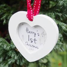 personalised baby u0027s 1st christmas tree decoration by banks lyon