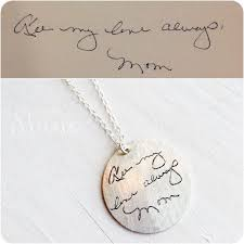 custom handwriting necklace this would make a really special gift for someone on your