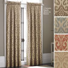 curtains blue and orange extremely inspiration ikat takin curtain