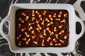 brownies go boo with a candy corn topping kitchn