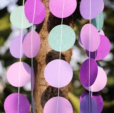 peacock baby shower 5pcs lot wedding garland purple paper garland peacock wedding