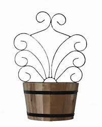 barrel planter with trellis