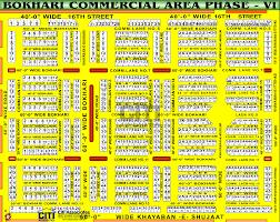 map of vi bukhari commercial area dha karachi phase vi phase 6 map dha