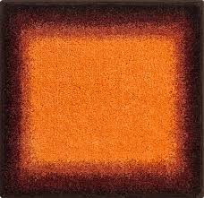 Orange Bathroom Rugs by Bathroom Rugs Avalon Orange Grund