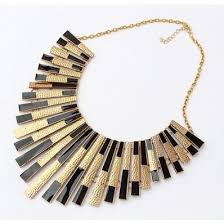 fashion necklace gold images Fashion black and gold tassels bib necklace image 548627 on jpg