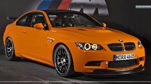 Orange Color by 2010 Bmw M3 Gts Front Pose In Orange Color Wallpaper