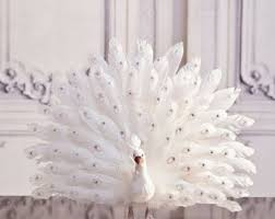 White Peacock Christmas Decorations Uk by Christmas White Peacock Ornament Tree Topper Decoration Shabby