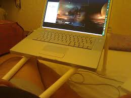 Laptop Desks For Bed by Pvc Laptop Stand 5 Steps With Pictures