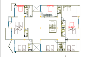Small Hotel Designs Floor Plans Six Levels Beach Small Hotel With Garden 2d Dwg Design Section For