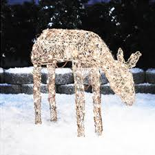 lighted reindeer christmas decorations lighted deer lighted deer sculptures
