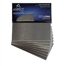 amazon com aspect peel and stick backsplash 3in x 6in brushed