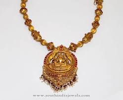 antique necklace images Gold antique necklace set from karpagam jewellers south india jewels jpg