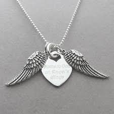 Personalized Memorial Necklace Home To God On Angels Wings Personalized Memorial Necklace My
