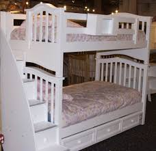 White Bunk Bed With Trundle Bunk Bed With Trundle And Storage Loft Bed Design