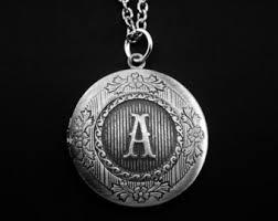 monogram locket necklace initial locket letter photo locket monogram locket necklace