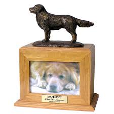 dog urns golden retriever cremation dog urn
