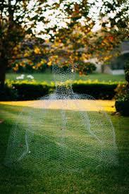 chicken wire ghost halloween yard decor ballgown dress