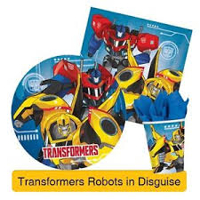 transformers birthday decorations transformer robots in disguise birthday party range tableware