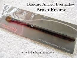basicare angled eyeshadow brush review indian beauty zone