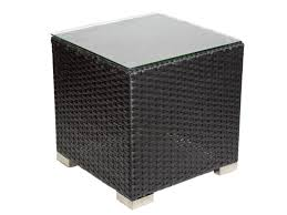rattan side table outdoor outdoor black rattan side table coffee table
