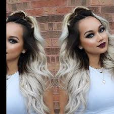 how to achieve dark roots hair style 107 best blonde hair with dark roots images on pinterest blonde