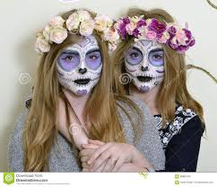mexican halloween makeup makeup mexican death mask stock photo image 68867350