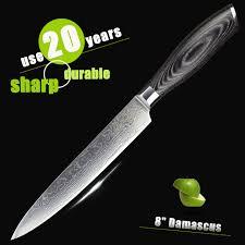 Restaurant Kitchen Knives Haoye 8 Damascus Cleaver Knife Japanese Vg10 Sashimi Sushi