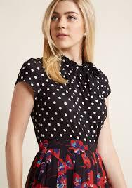 polkadot top 1940s style blouses tops shirts